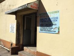 Belize fish market door
